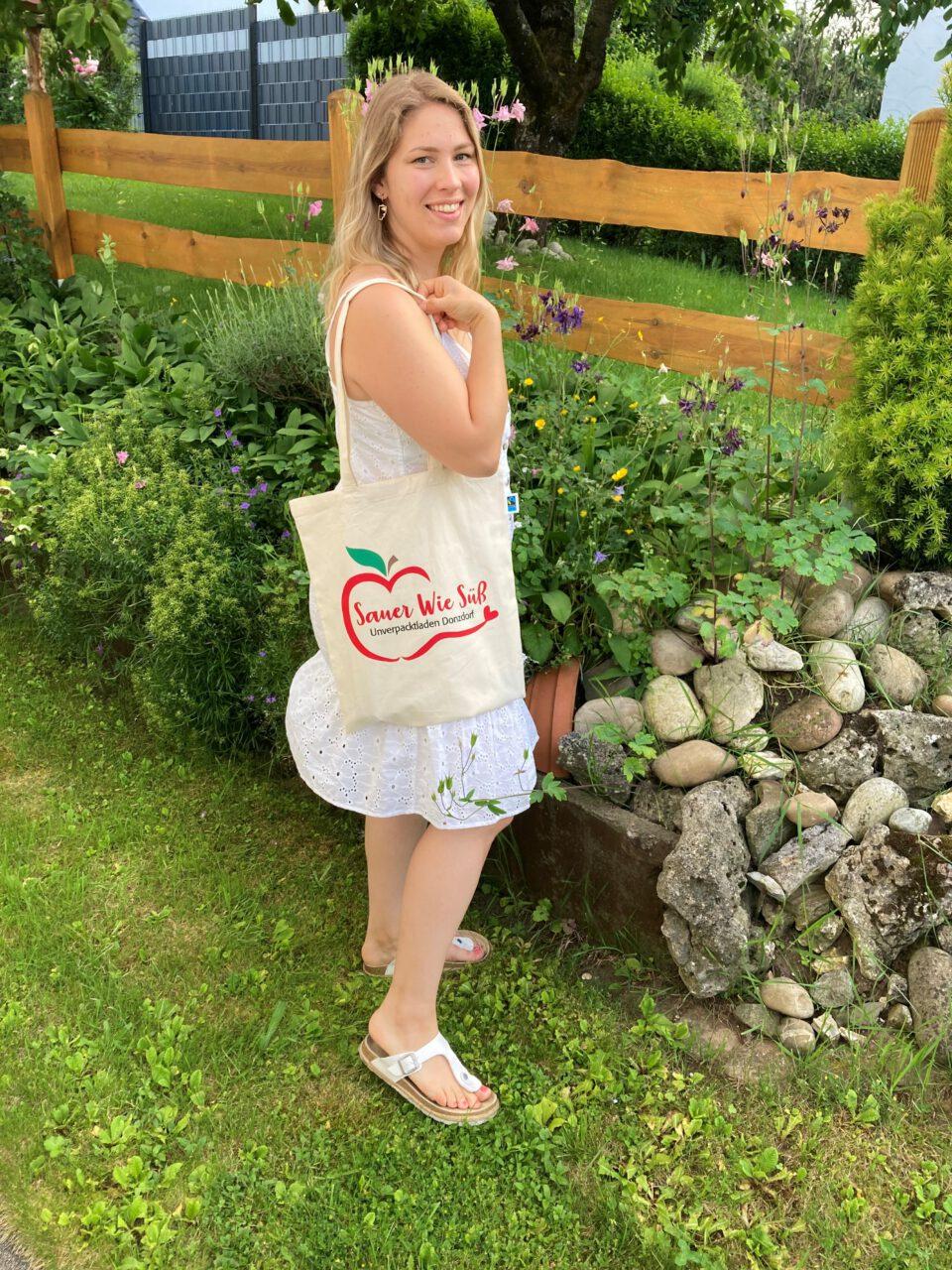Biobaumwolltasche mit Sauer wie Süß Logo
